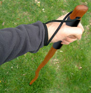 Hand on hiking staff